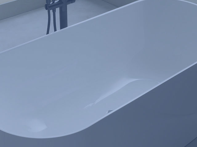 How to repair a damaged area on acrylic bathtub